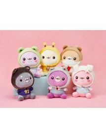 MONSTA X WITH TWOTUCKGOM : ANIMAL COSTUME SITTING PLUSH DOLL & HAT [PRE-ORDER]
