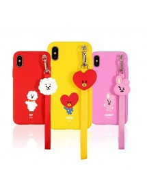 [BT21] CHARACTER STRAP PHONE CASE