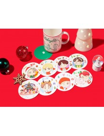 BTS HOLIDAY THEME - COASTER SET ('HOUSE OF BTS' MD)